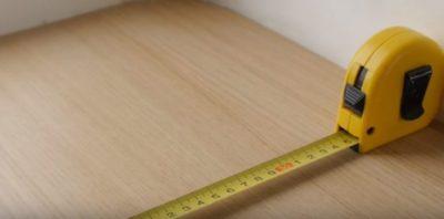 Рулетка для разметки перегородки из гипсокартона