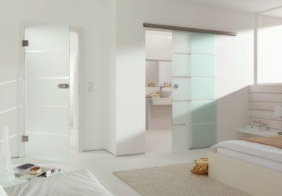 Стеклянные двери в интерьере: конструкция на петлях и раздвижная система
