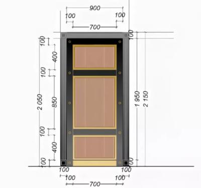 Входная дверь с размерами